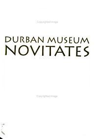 Durban Museum Novitates PDF