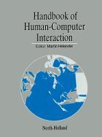 Handbook of Human Computer Interaction PDF