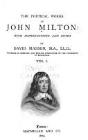 The Poetical Works of John Milton  Memoir of Milton  Paradise lost PDF