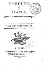 Mercure de France: Volume53