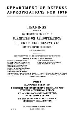 Department of Defense Appropriations for 1979  Manpower overview PDF