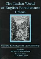 The Italian World of English Renaissance Drama PDF