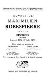 Oeuvres de Maximilien Robespierre