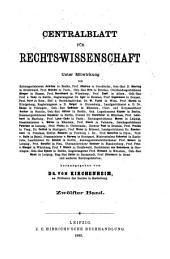 Zentralblatt der Rechtswissenschaft: Band 12