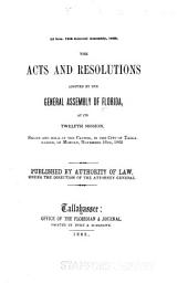 General Acts, Resolutions, and Memorials Adopted by the Legislature of Florida