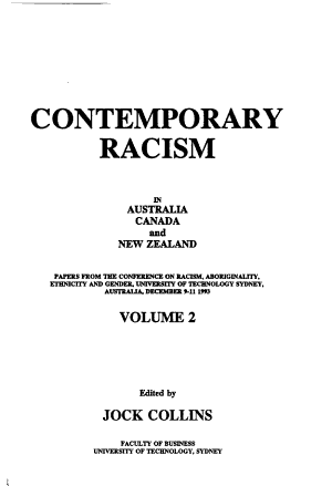Confronting Racism in Australia  Canada  and New Zealand PDF