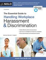 The Essential Guide to Handling Workplace Harassment   Discrimination PDF
