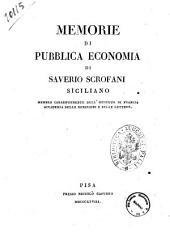 Memorie di pubblica economia di Saverio Scrofani siciliano ..