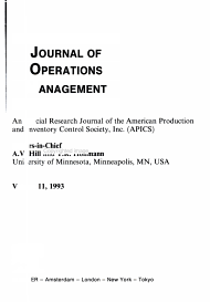 Journal of Operations Management PDF