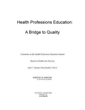 Health Professions Education