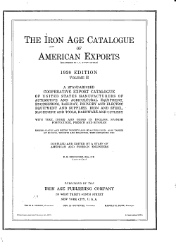 Iron Age Catalogue of American Exports     PDF