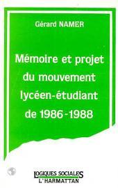 Mémoire et projet du mouvement lycéen-étudiant de 1986-1988