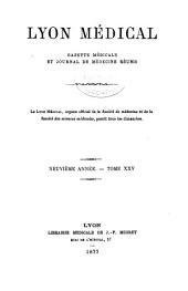 Lyon médical: Volume25