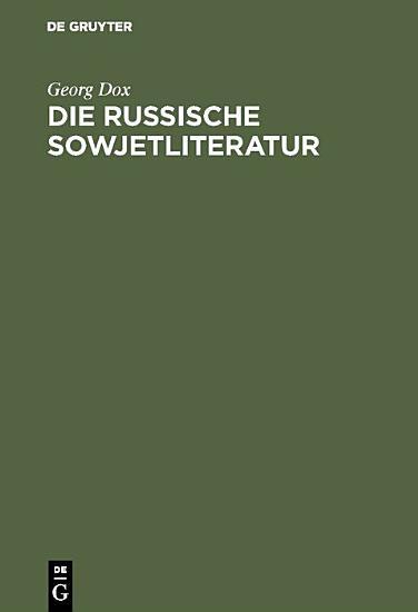 Die russische Sowjetliteratur PDF