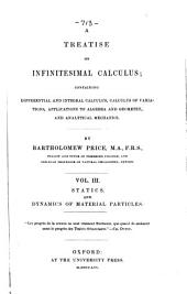 A treatise on infinitesimal calculus, containing differential and integral calculus, calculus of variations, applications to algebra and geometry, and analytical mechanics: Volume 3