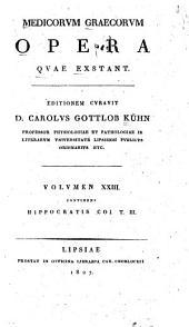 Medicorum Graecorum opera quae extant: Hippocratis