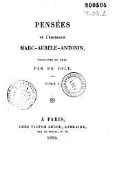 Pensées de Marc-Aurèle-Antonin