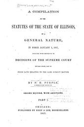 A compilation of the statutes of the state of Illinois