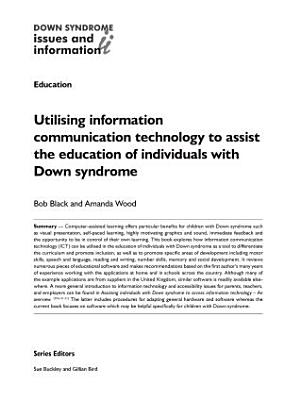 Utilising Information Communication Technology to Assist the Education of Individuals with Down Syndrome PDF