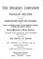 The Speaker's companion, or, Popular reciter