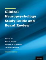 Clinical Neuropsychology Study Guide and Board Review PDF