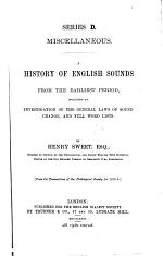 A History of English Sounds from the Earliest Period