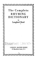 The Complete Rhyming Dictionary PDF