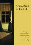 Neue Zeitung Fur Einsiedler PDF