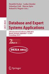 Database and Expert Systems Applications: 25th International Conference, DEXA 2014, Munich, Germany, September 1-4, 2014. Proceedings, Part 2