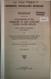 Prohibiting Intoxicating Beverages: Hearings Before the Subcommittee...(66 Cong. 1st Sess.)