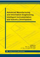 Advanced Manufacturing and Information Engineering  Intelligent Instrumentation and Industry Development PDF