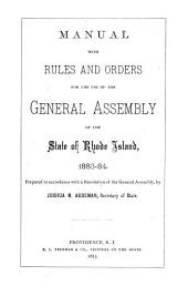 Manual - the State of Rhode Island and Providence Plantations