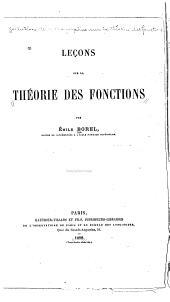 Leçons sur la théorie des fonctions