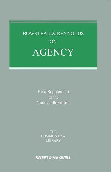Download Bowstead and Reynolds on Agency Book