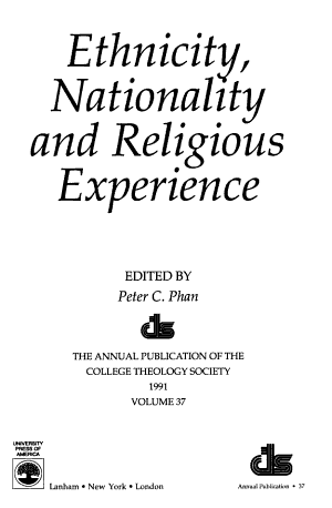 Ethnicity, Nationality and Religious Experience