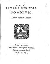 Satyra Menippaea, somnium: lusus in nostri aevi criticos