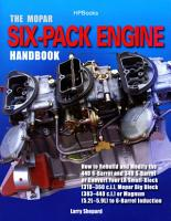 The Mopar Six Pack Engine Handbook HP1528 PDF