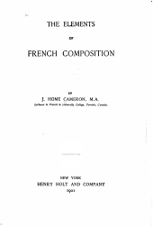 The elements of French composition