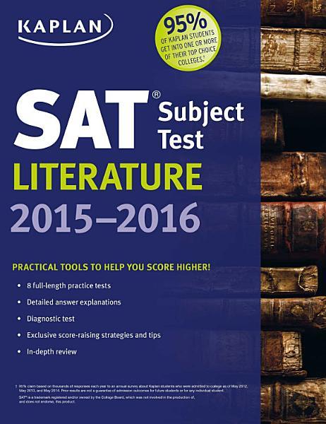 Kaplan SAT Subject Test Literature 2015 2016