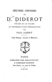 Oeuvres choisies de D. Diderot: Volume 1