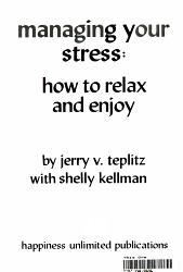 Managing Your Stress PDF