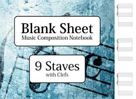 Blank Sheet Music Composition Notebook   9 Staves without Clefs PDF