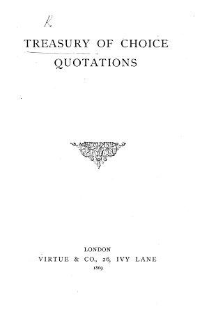 Treasury of Choice Quotations