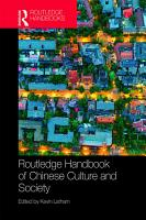 Routledge Handbook of Chinese Culture and Society PDF