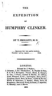 The expedition of Humphry Clinker. By the author of Roderic Random