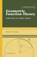 Geometric Function Theory PDF