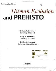 Human Evolution And Prehistory Book PDF