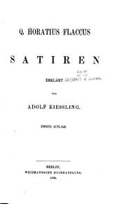 Q. Horatius Flaccus: Satiren (5. aufl.)