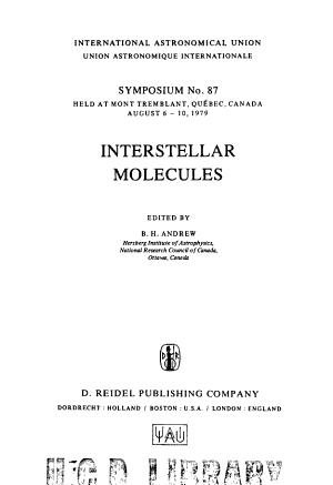 ANDREW INTERSTELLAR MOLECULES  PDF