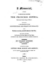 A Memorial Offered to Her Royal Highness, the Princess Sophia: Containing a Delineation of the Constitution and Policy of England